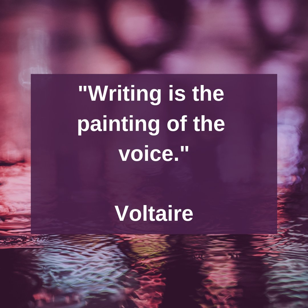 Writing is the painting of the voice.  ~ Voltaire  #WritingCommunity #ThursdayMotivation #Writers #authors #inspiration #ThursdayThoughtspic.twitter.com/EEWmaRnM55