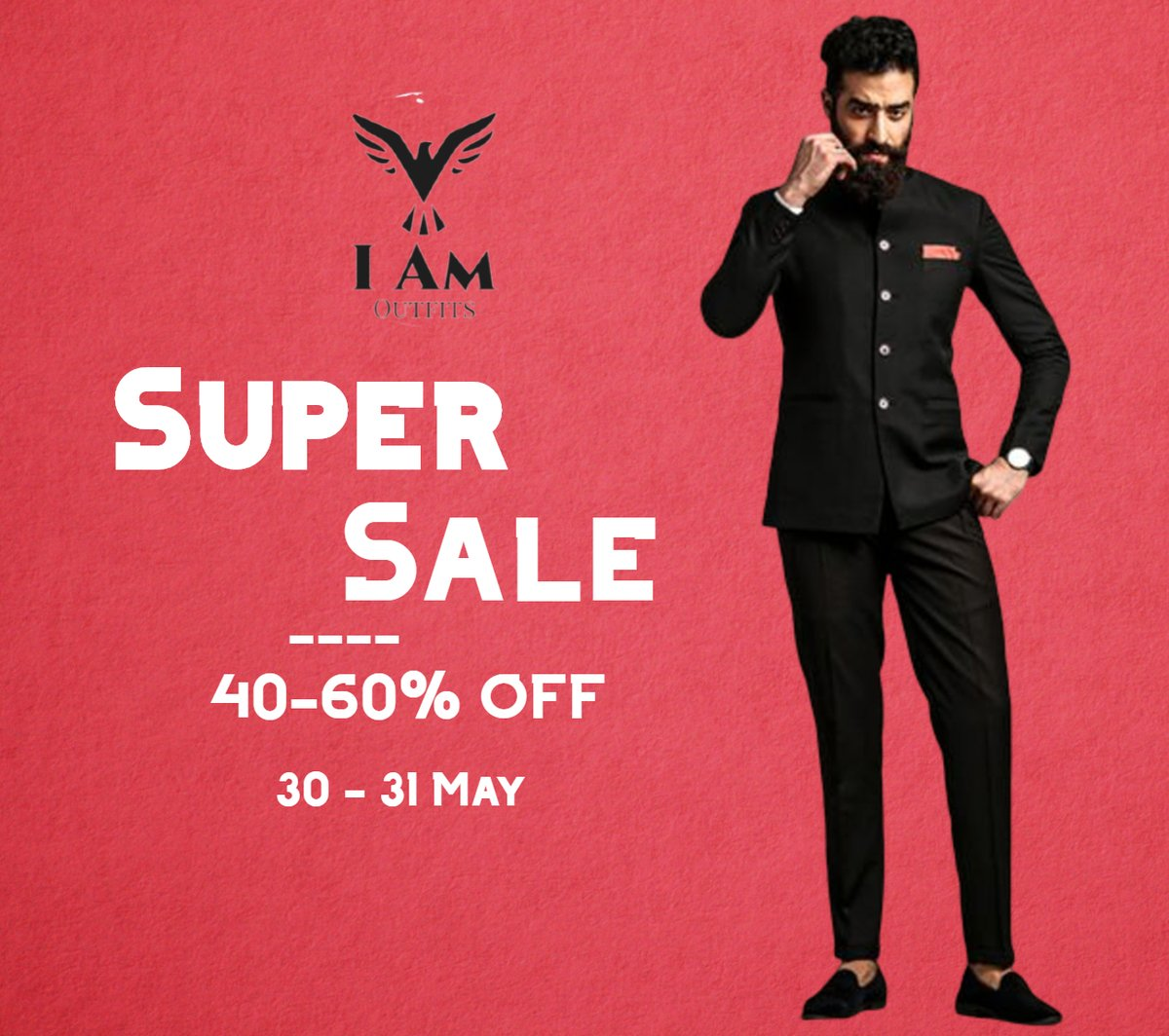 All fashions cloths, SUPER SALE 40-60% OFF  ON 30 - 31 May  DONT  MISS IT.....  #iamoutfits #supersale #summer2020pic.twitter.com/SIRyHeSpbB