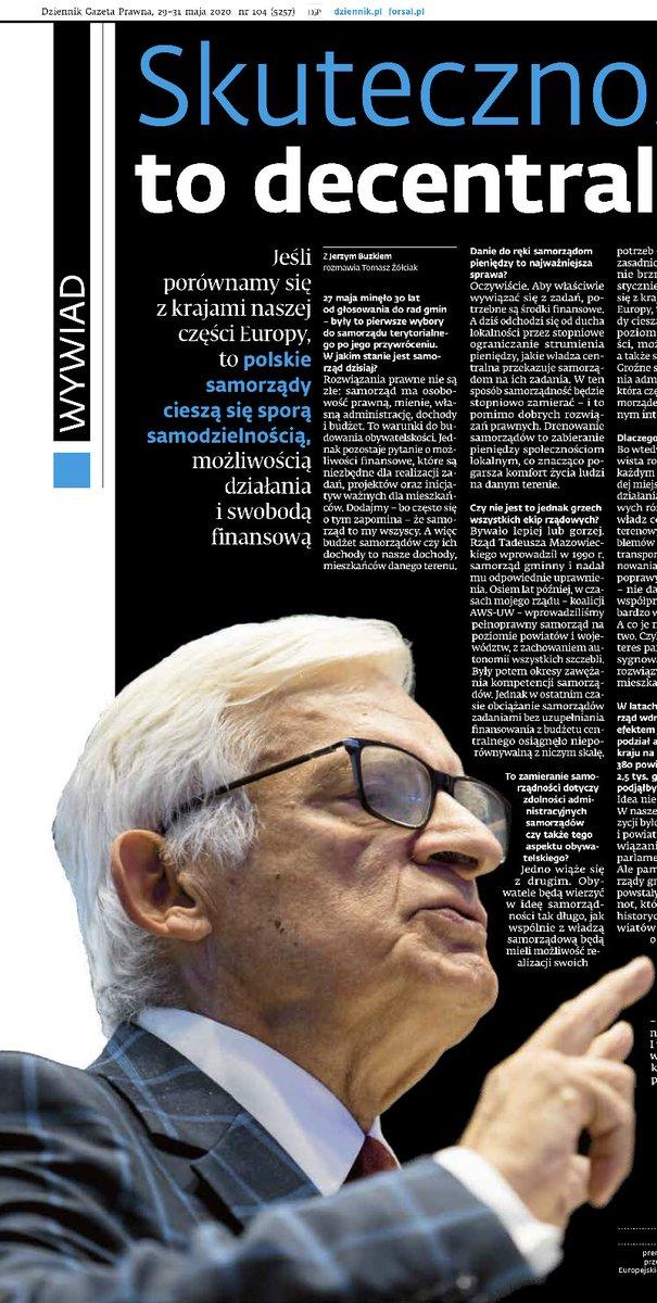Dziś w @DGPrawna polecam ciekawy wywiad z @JerzyBuzek o samorządzie, obchodzącym 30-lecie pierwszych wyborów. To rząd Pana Premiera odpowiada za reformę, której efektem jest http://m.in. dzisiejsza liczba województw. Czy i co zrobiłby inaczej?  pic.twitter.com/RzhFUOGlLA