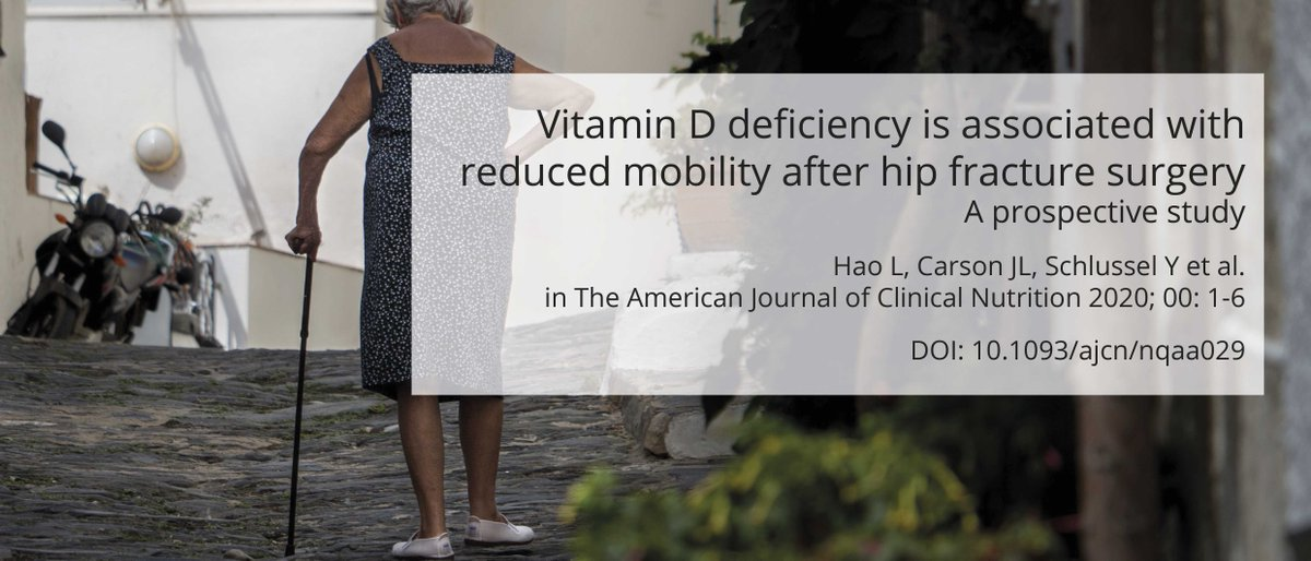 #vitaminD #deficiency #mobility #hipfracture #morbidity #mortality #surgery #ambulation #walking #elderly #geriatric #nutritionalstatus #healthyageing #healthyaging https://t.co/y0Rot3j70E