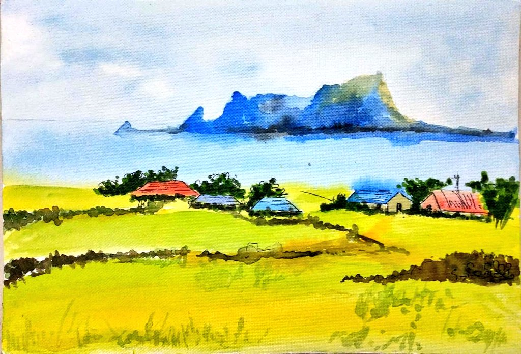 Watercolour on paper #landsape #painting #ArtistOnTwitterpic.twitter.com/qJM1Y1BCwW