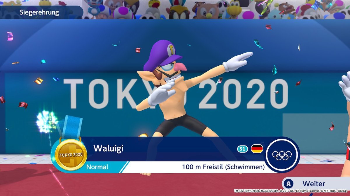 he dab #Play2020  #Tokyo2020 #OfficialVideoGame #MarioandSonic #NintendoSwitch https://t.co/Fkf0gStBVI