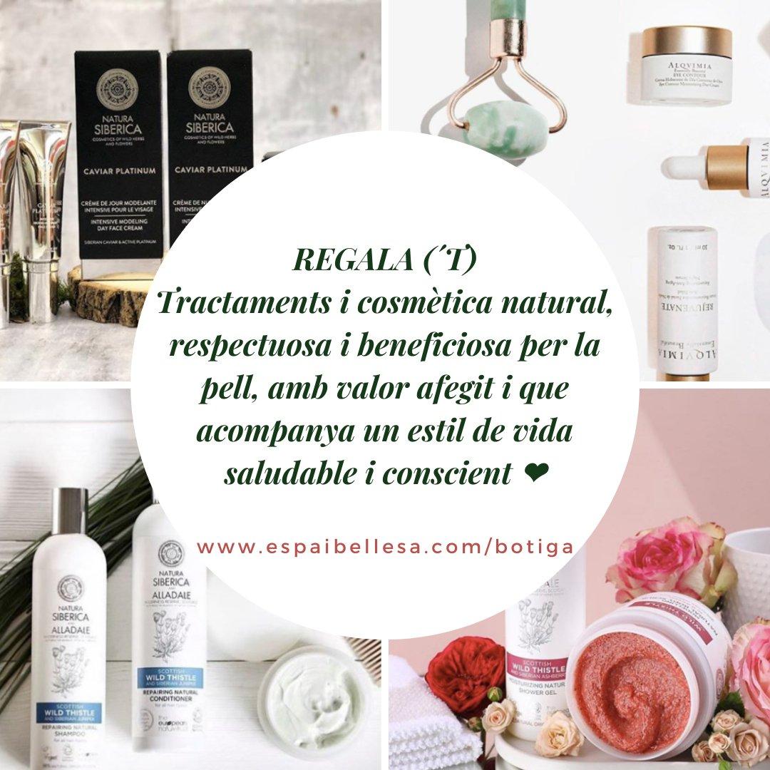 Regala ('t) #cosmèticanatural #estèticaconscient #benestar #bellesanatural  https://www.espaibellesa.com/botiga/Regals-c49651931…pic.twitter.com/Psl47swg8a