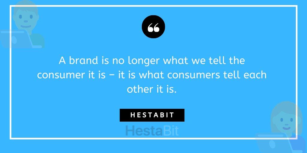 A brand is no longer what we tell the consumer it is – it is what consumers tell each other it is. #branding #brands #consumerpic.twitter.com/ThJaxrKYQe