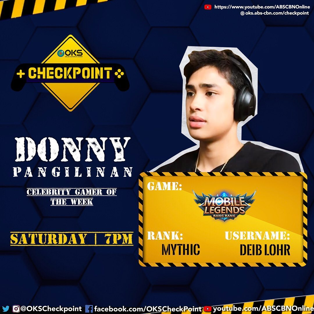 Game: Mobile Legends Rank: Mythic Username: DEIB LOHR   Abangan ang Checkpoint episode ni Donny bukas together with Robi Domingo, 7PM!<br>http://pic.twitter.com/67NhnxslJ7