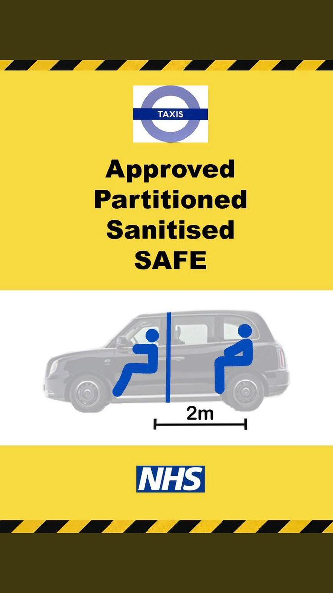 As we start the return to work we're backing black cabbies all the way.  They're approved, partitioned and sanitised.  Our wonderful black cab clients are the best way to get London back to work safely. #blackcabs #newnormal #transport #backtowork #taxidrivers  @londontaxi_prpic.twitter.com/hGYF3f4iuu