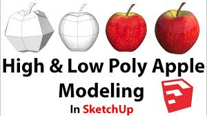 Nice tutorial of - High & Low Poly Apple Modeling In SketchUp. #3dArt #design #ocrart #ocrartanddesign #gcseArt #alevelArt #arted #artdesign #gcseartanddesign #ArtAndDesign
