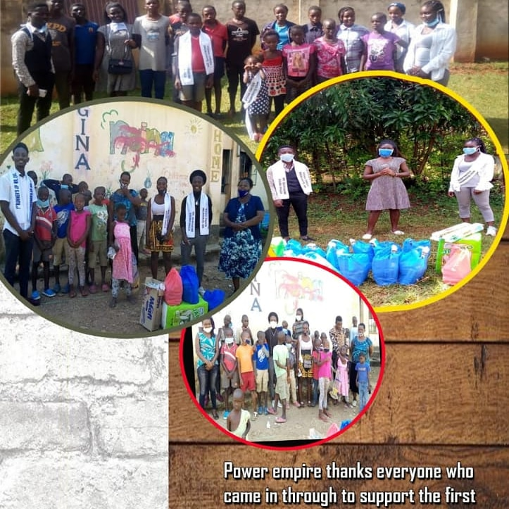 Anne@ anne_ayiro #Power Needy kit Foundation# let's join hands in helping the vulnerable  .   Power empire team  @ Mama Ngina orphanage in kisumu.. practising the act of being a neighbor. pic.twitter.com/Fie0XW3JoL