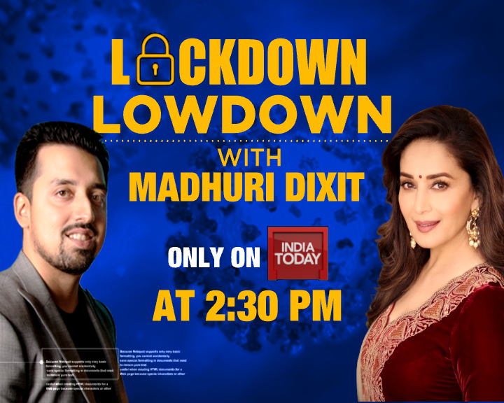 Get to know @MadhuriDixits #lockdown stories, watch an #exclusive interview with the actress at 2:30 PM. @SushantNMehta