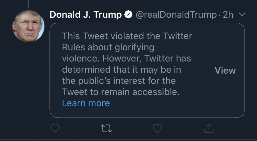 Lmfaooo they deleted his tweet 😂😂 I guess Trump is nuking Twitter HQ in the morning 🤷🏼♀️ #donaldisoverparty