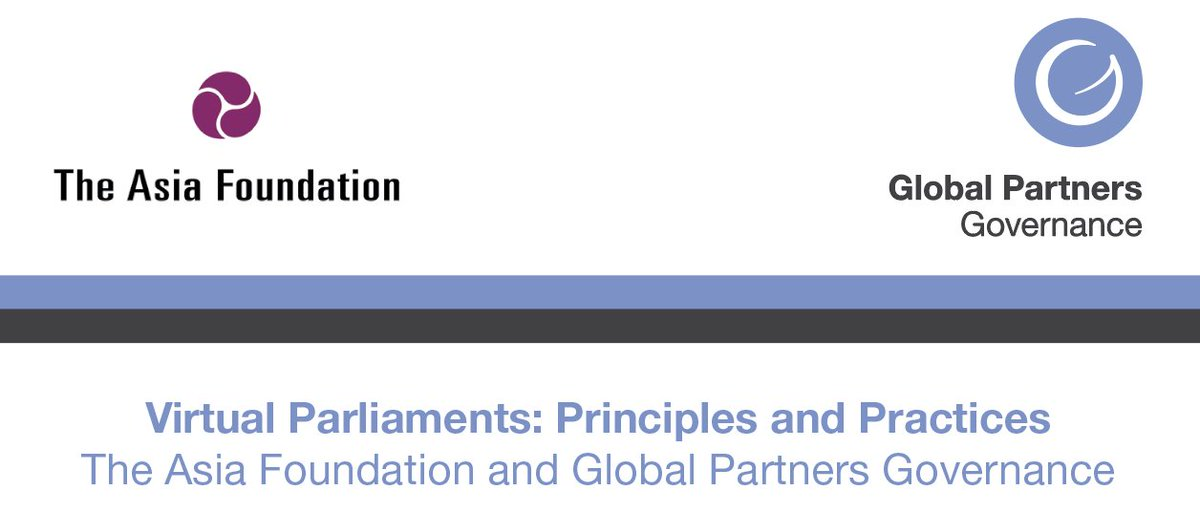 'Virtual Parliaments: Principles and Practices' is GPG's new paper, released in collaboration with @Asia_Foundation, and is available to read now: https://www.gpgovernance.net/publication/virtual-parliaments/… #COVID19pic.twitter.com/MMwvk2gj5y