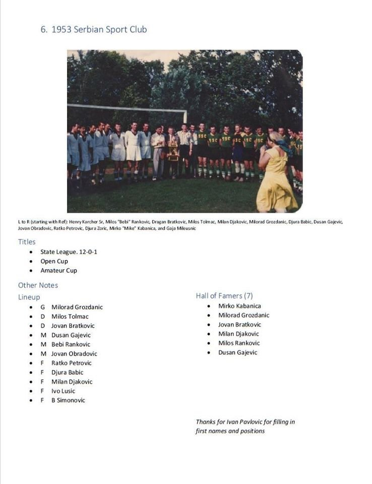 My Top 16 teams in Wisconsin soccer history in chronological order - #6 1953 Serbian Sport Club pic.twitter.com/Kts3S2dpEr