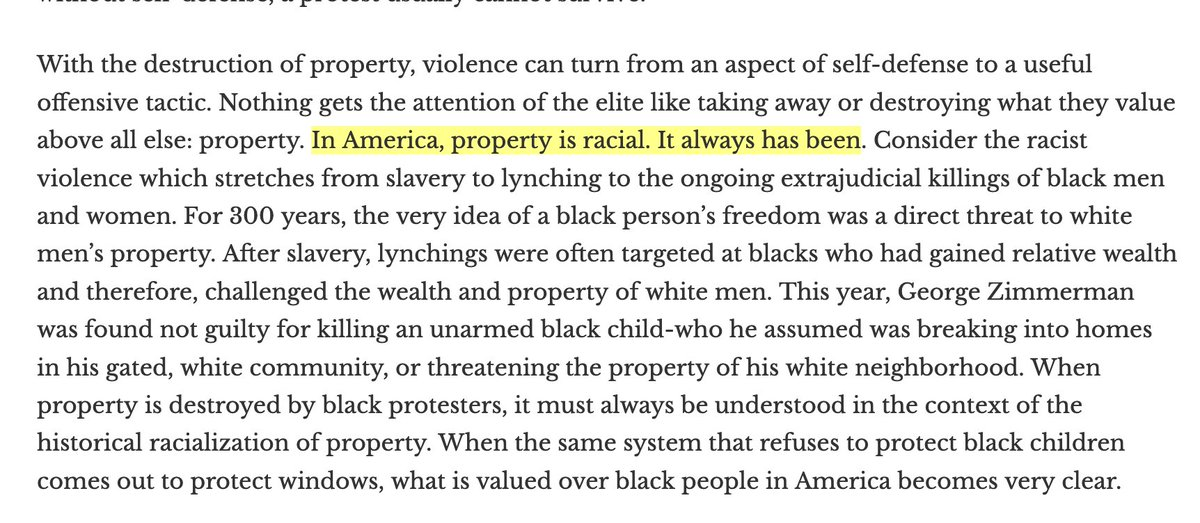 Really good time to read the these two brilliant essays on the meaning of riots. First, @aintacrow on who is considered a rioter and who is considered a protester. https://t.co/j3bsbOn5Gw https://t.co/4RjzXcH1mo