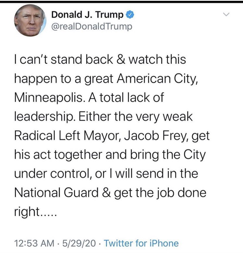 .@MayorFrey you heard the President .@realDonaldTrump do your job! #KAG #MinneapolisRiot #Minneapolisprotest