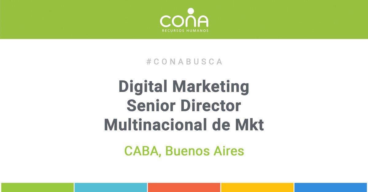 #CONABUSCA Digital Marketing Senior Director - Agencia Multinacional de Mkt en CABA  Postulate en  http://ow.ly/oSC150zTwar   o enviá tu CV a enviocv@cona.com.ar  #oportunidadlaboral #somoscona #trabajoar #empleoargentina #ofertalaboral #rrhhargentina #conaconsultorespic.twitter.com/eO9NxDhCId