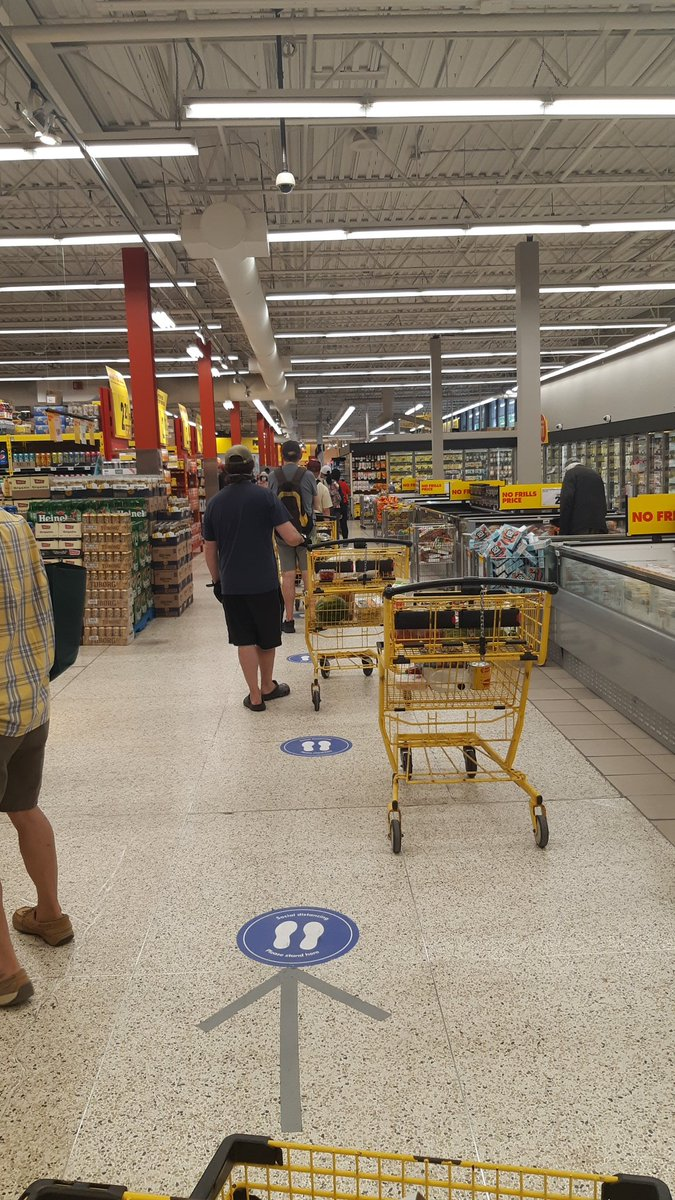 Current situation: super long line for the cashier. #groceryshopping #Toronto #thenewnormal
