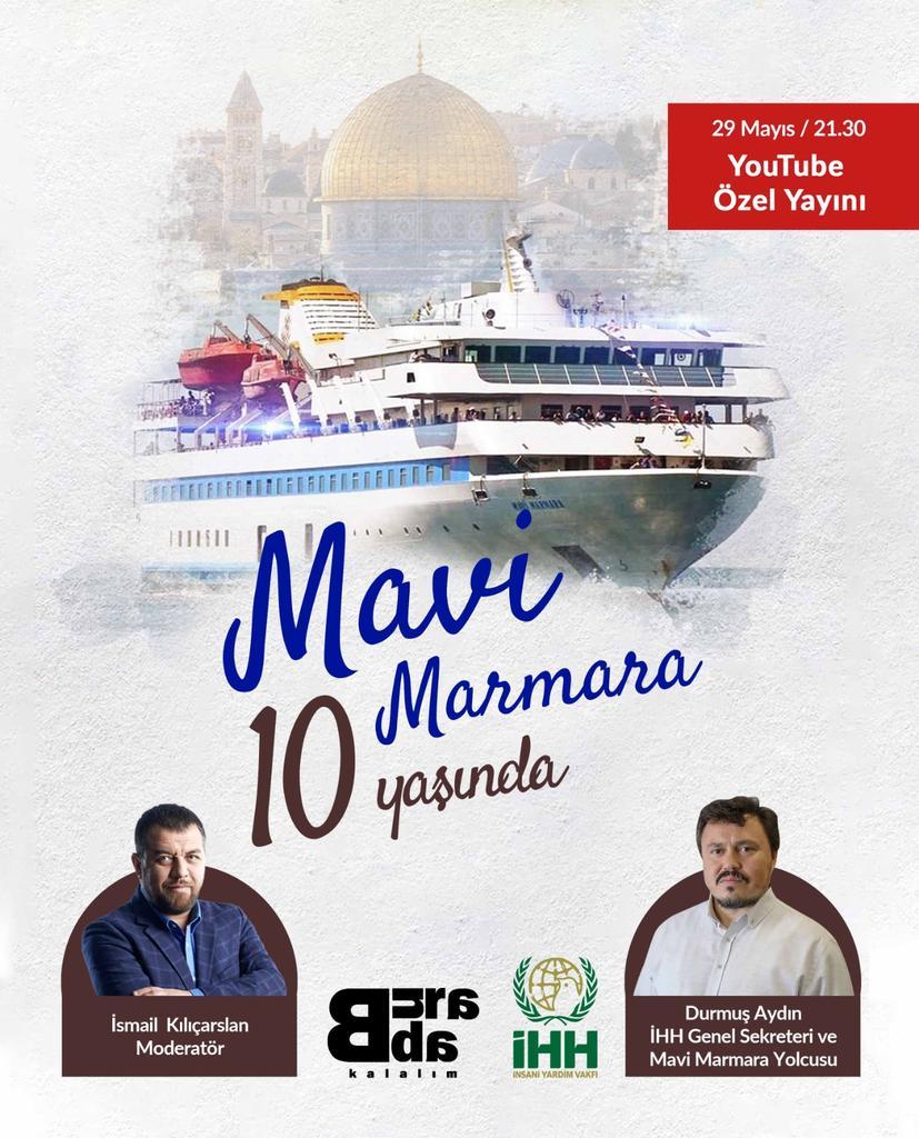Bugün 21:30'da @buradakalalim da 'Mavi Marmara 10 Yaşında' özel yayınına bekleriz.  https://t.co/M7eYYyE8qv https://t.co/GgZZf6X8Um