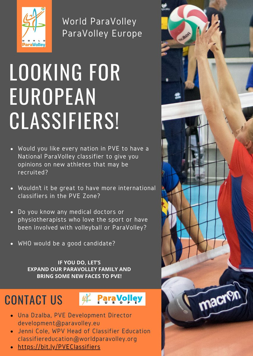 Paravolley Europe Sitting Standing Volleyball In Europe