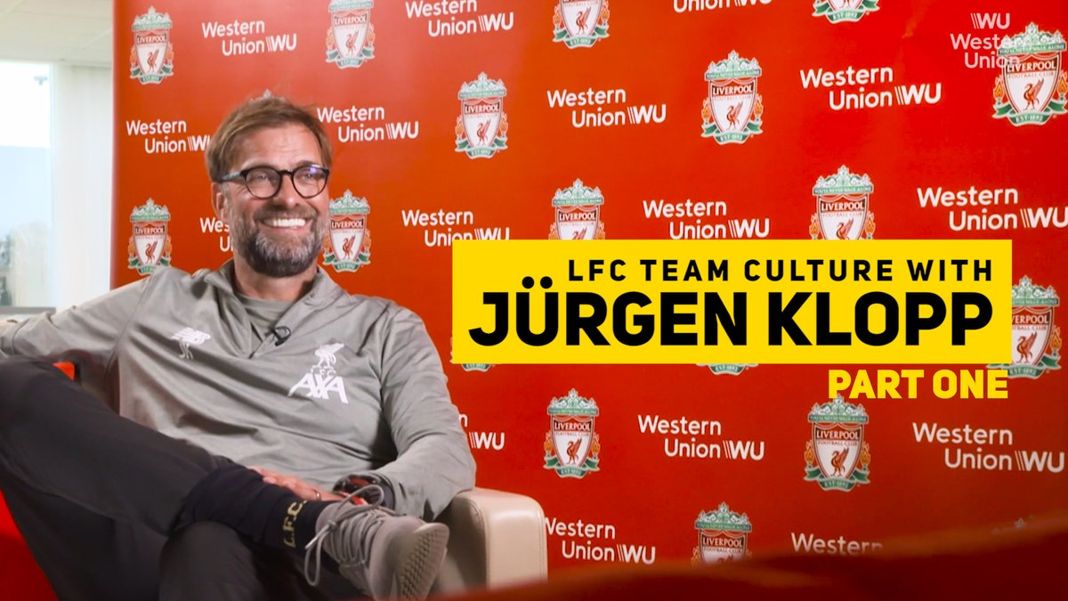 My dream was always that we could play in any random shirt, but if you watched us play, you would say, ah thats Liverpool ✊ #LFC Team Culture with Jürgen Klopp Part One, presented by @WesternUnion.