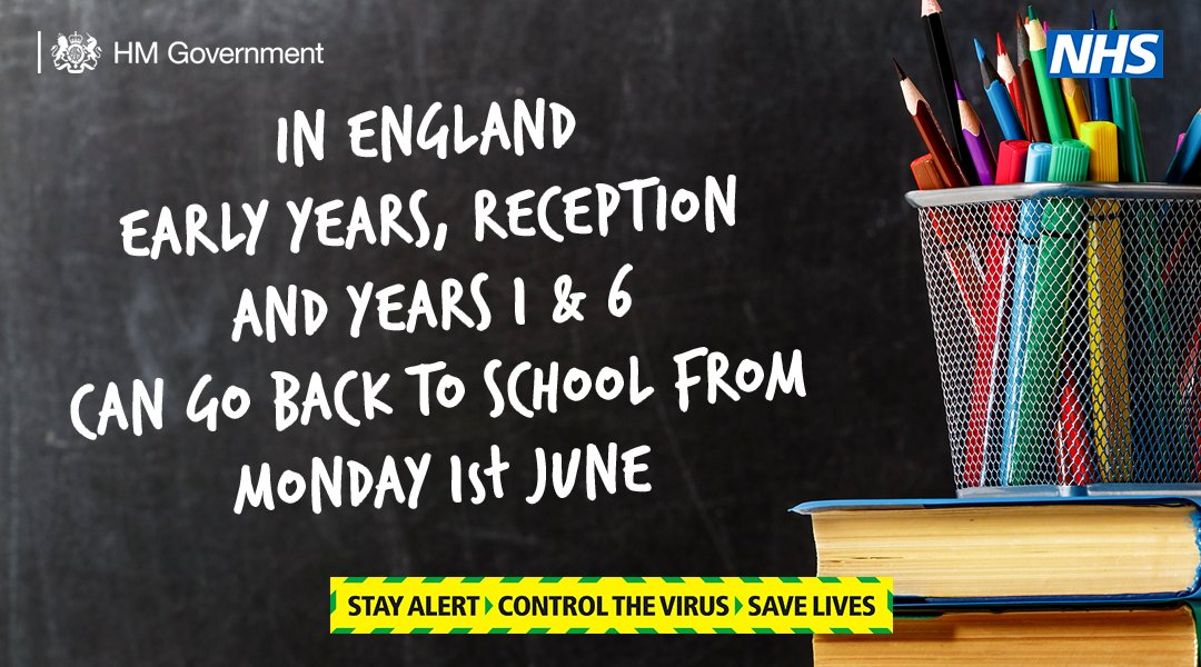 From Monday, early years, reception and years 1 and 6 can go back to school in England.