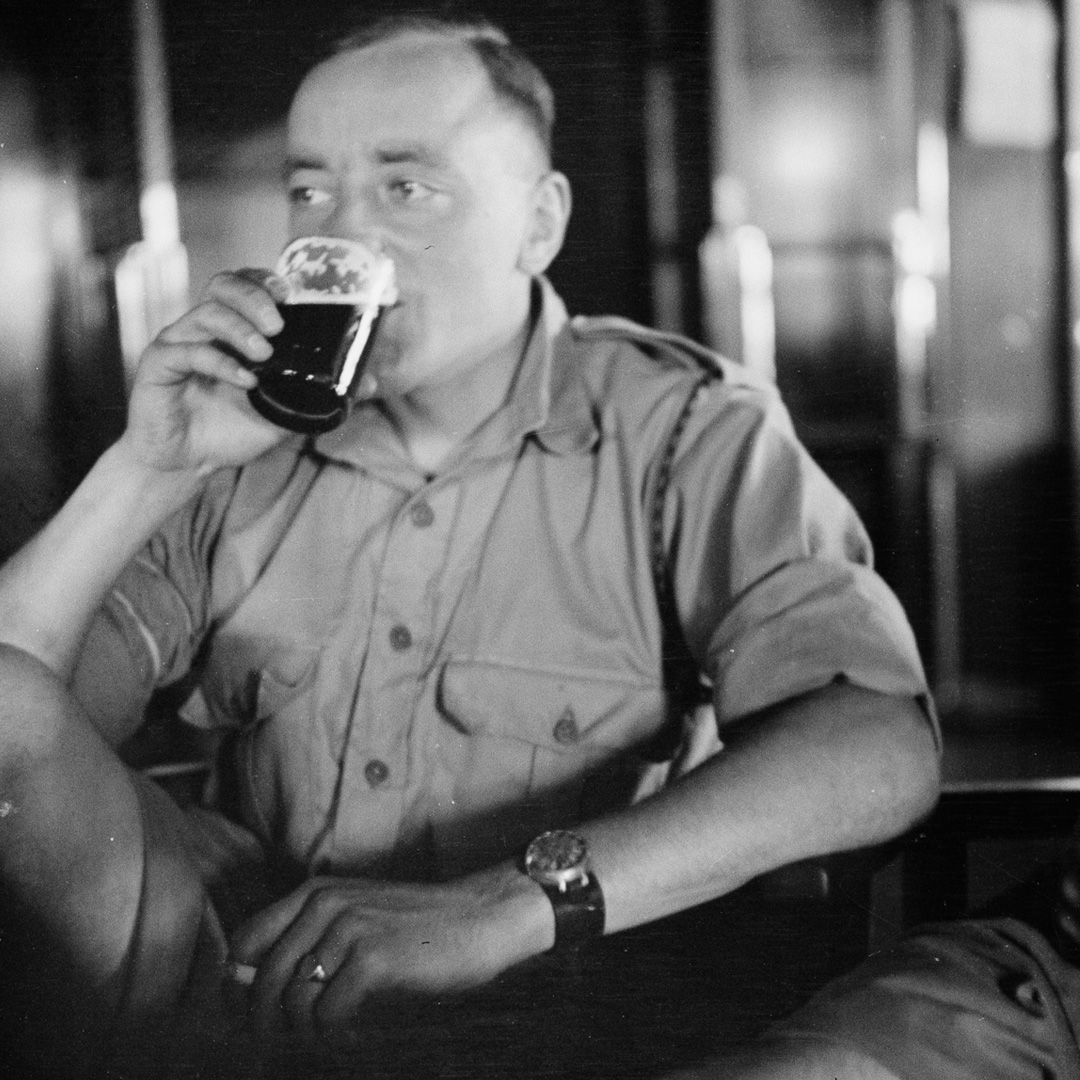 Feeling fed up in lockdown? Sometimes its hard to muster that #FridayFeeling, like this WW2 soldier looking glum despite his stout. But were glad that we can continue to share our stories with you online. Whats something youre glad about right now? 🙂 bit.ly/2zpWdrH