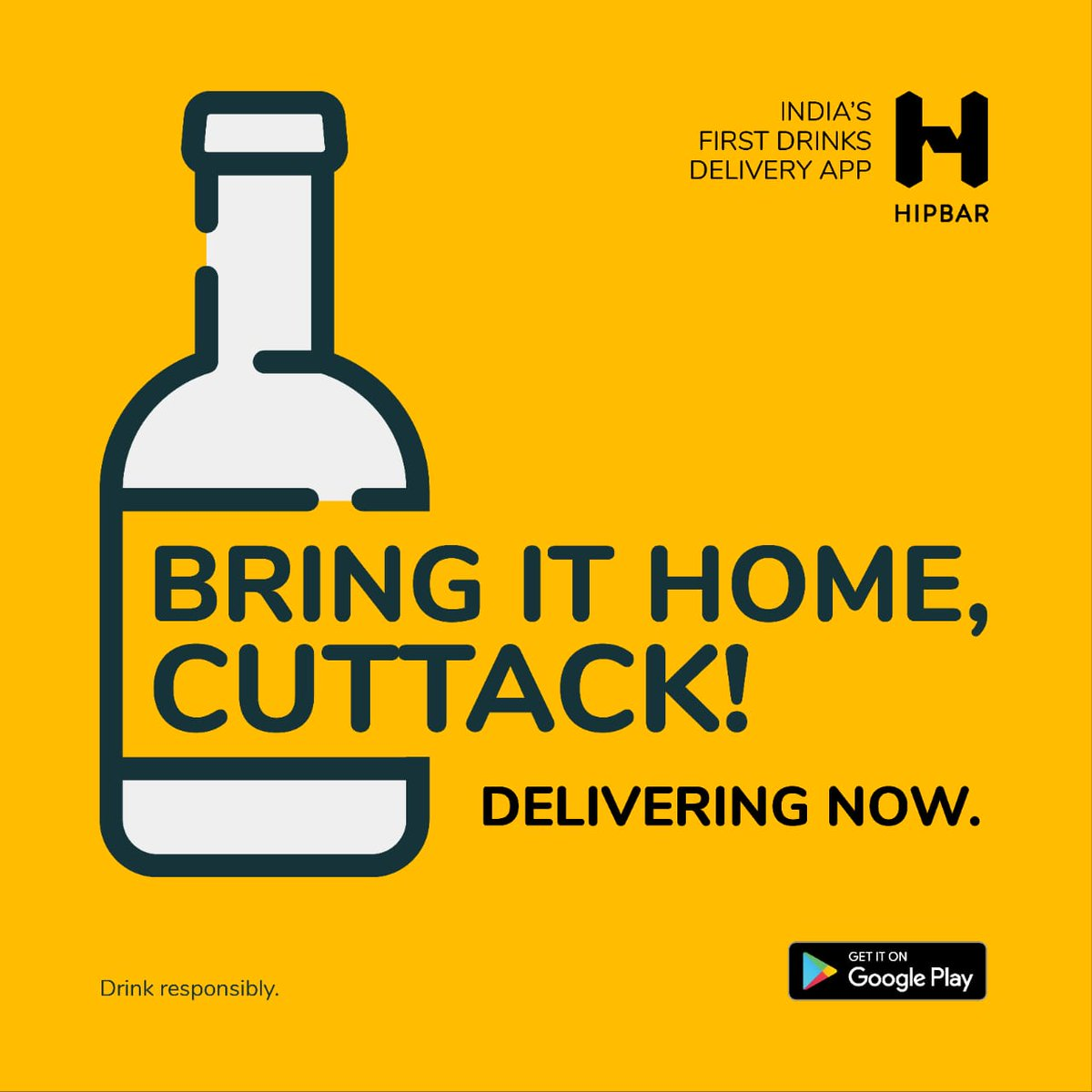 CHEERS CUTTACK! We're excited to announce that we are now home delivering your favourite drinks! More locations to be added daily.  . . Download the HipBar app now! - https://t.co/xkvbZHclk7 . . #HipBar #BringItHome #Odisha #HomeDelivery #NewCity #SocialDistancing #StaySafe https://t.co/A7GxTahxA5