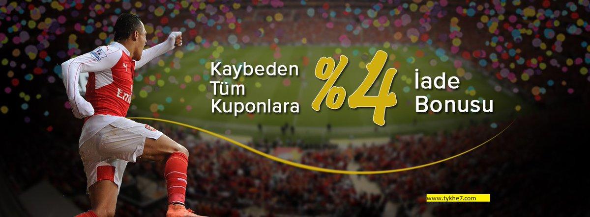 Bütün itirən kuponlara 4% Dönüş bonusu ! #bonus #kazan #spor #bahis #azeri #evdeqal http://tykhe8.compic.twitter.com/vecZb3oB7n