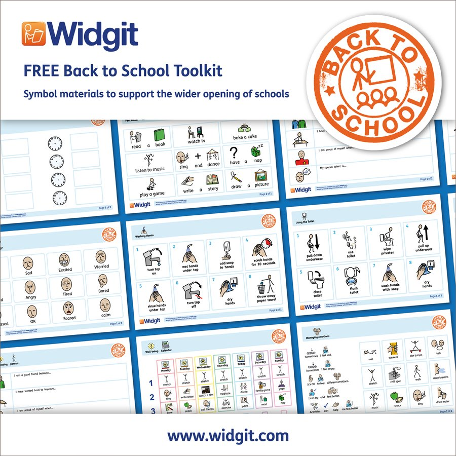 Back to School Toolkit of symbol materials to support the wider opening of schools