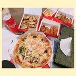 Image for the Tweet beginning: 今日の #ランチ は #ピザ でした😃💓 美味しかった〜💙✨ それにしても