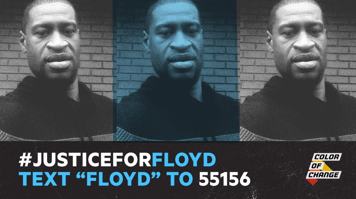 Text 'Floyd' to 55156 to demand DA @HennepinAtty charge them with murder. #JusticeForFloyd