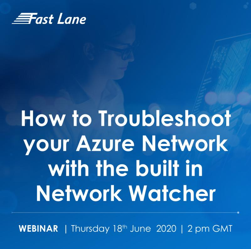 FREE Webinar - How to Troubleshoot your Azure Network with the built in Network Watcher - Thursday 18th June, 2020 | 2 PM GMT. To register click here:  http:// lnkd.in/gE2vdfQ       #azure #microsoft #microsoftazure #microsoftpartner #freewebinar #microsoftgoldpartner <br>http://pic.twitter.com/bL98jk1GlI
