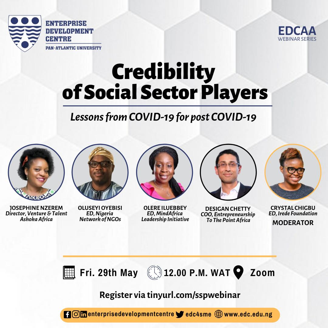 Join us today at 13:00 S.A time for this powerful conversation on the credibility of social sector players, taking lessons from COVID-19. Register for this session via this link https://t.co/OCbEtPf0hx https://t.co/viK0n1eB0J