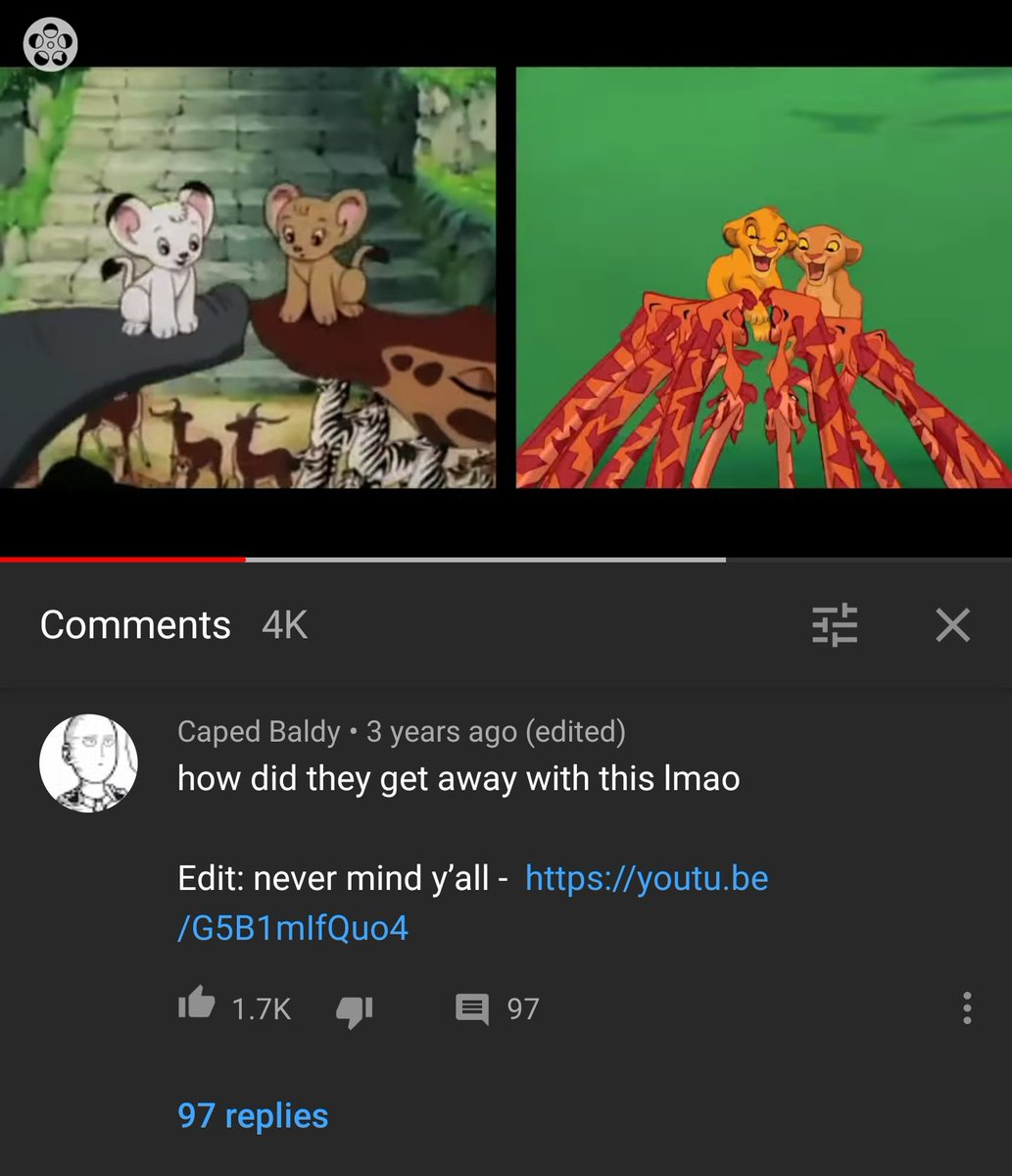 Props to the people going back and editing their top comments on those terrible Kimba clickbait conspiracy videos. https://t.co/YhgQpTLexr