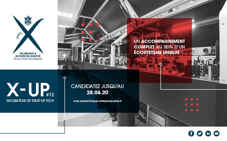L'incubateur de @Polytechnique recherche sa 12e promo pour son programme d'Incubation X-Up de porteurs de #projets / jeunes #entreprises #tech…