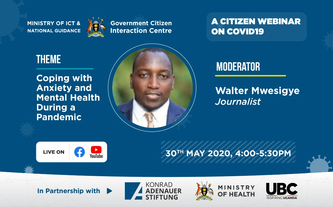 #COVIDWebinarsUG | Even so, it can still be difficult at times to understand the devastating impact illnesses like depression can have on our lives during #COVID19UG.  Our citizen webinar will also challenge mental health stigma & discuss ways to fight it. Make a date!pic.twitter.com/NloN2OkNx1