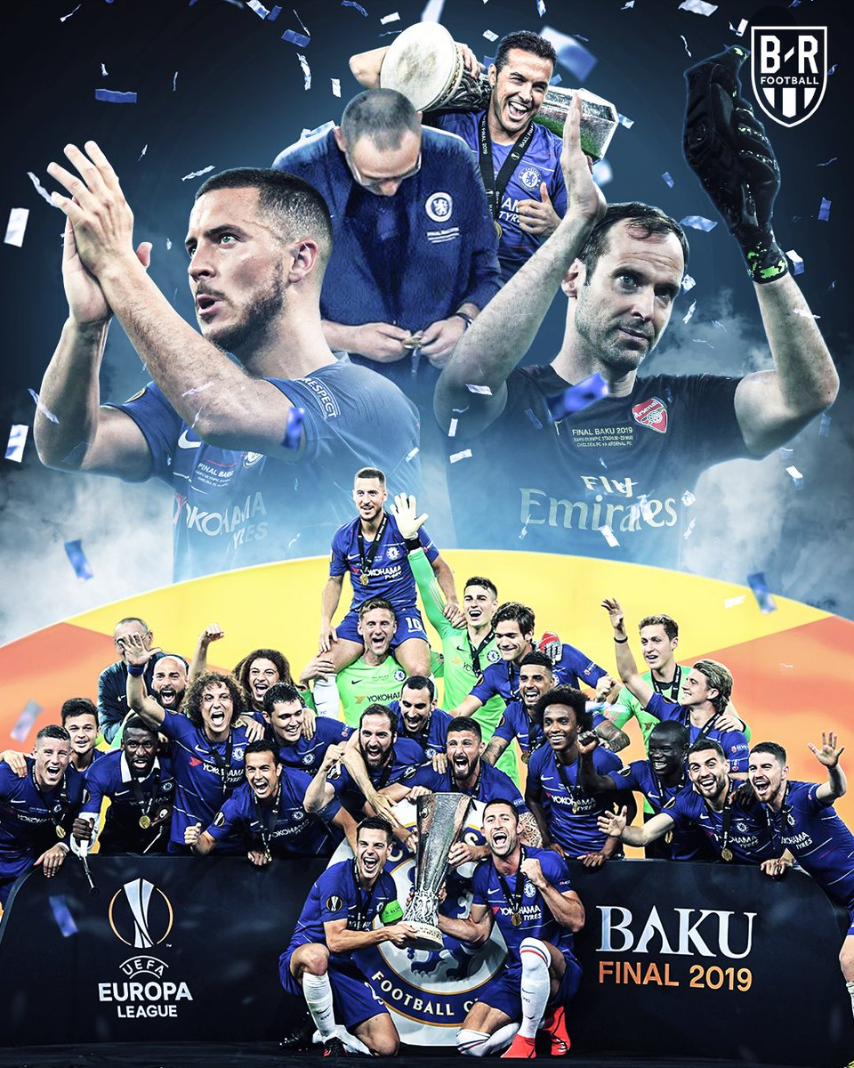Last years Europa League final: —Hazard says goodbye to Chelsea —Petr Cech retires from football —Maurizio Sarris first senior trophy —Pedro completes the European trophy set A day full of emotions ❤️