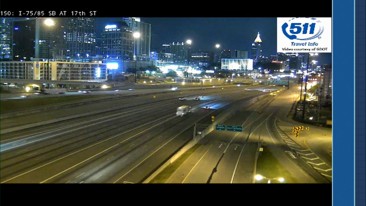 Quiet now in midtown and downtown but remember, VP Pence coming in at 10 am #MorningRushATL
