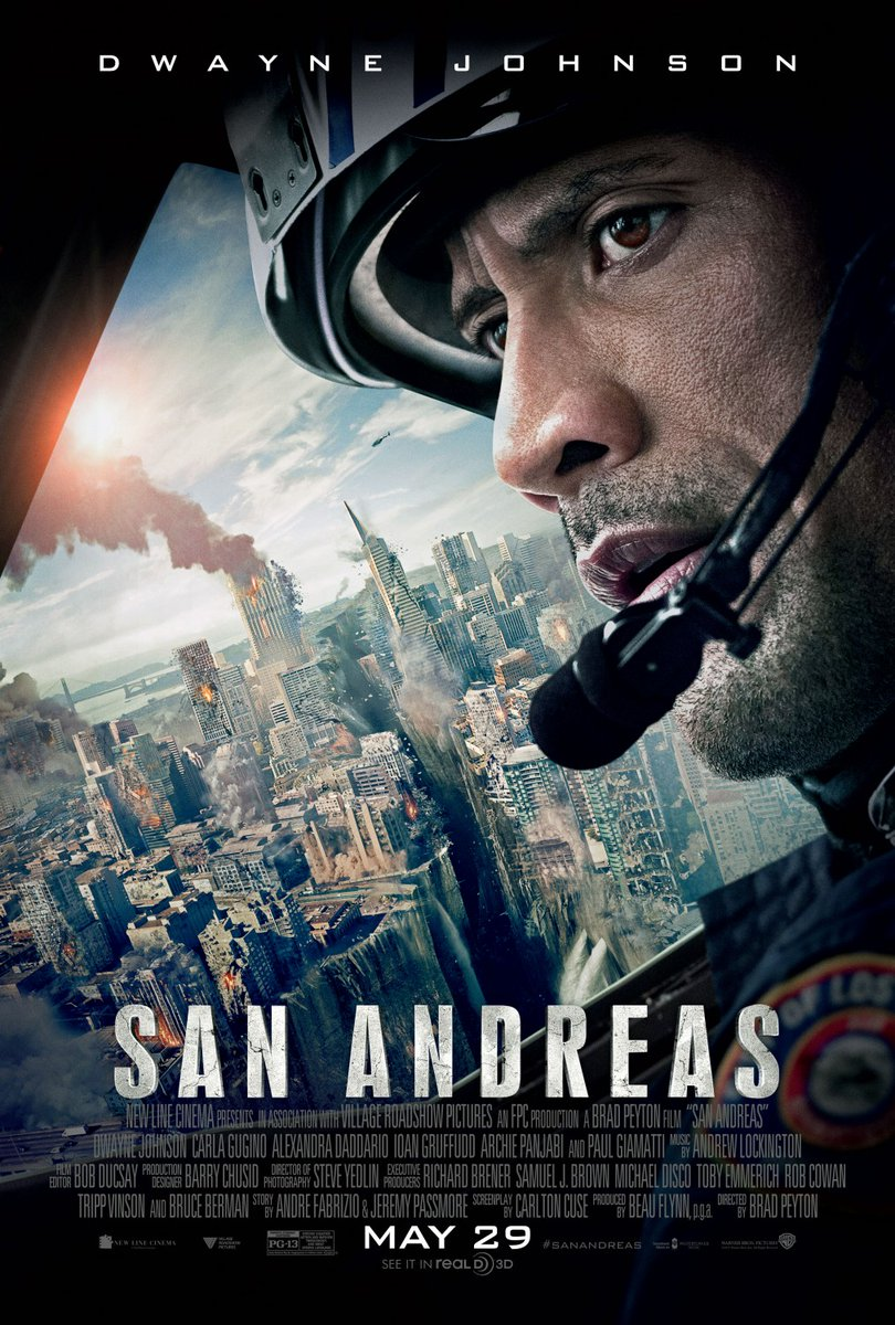 #TodayInMovieHistory (May 29): #SanAndreas was released five years ago today! Its plot centers on an earthquake caused by theSan Andreas FaultdevastatingLos Angelesand theSan Francisco Bay Area. Cast: @TheRock, @CarlaGugino, @AADaddario, @IoanGruffudd, @KylieMinogue.pic.twitter.com/AgRQchkmCc