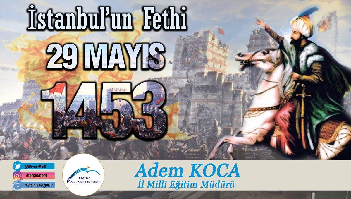 """""""Ya ben #İstanbul'u alırım, Ya da #İstanbul beni""""    - Fatih Sultan Mehmet Han -  Şanlı Fethin 567.Yılı Kutlu Olsun.  #istanbulunfethi  #29MAYIS1453 https://t.co/5gGxpaHHoB"""