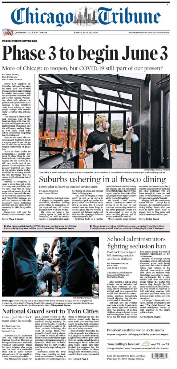 Suburbs Ushering In Al Fresco Dining. Here's what to know as outdoor service starts ~ https://is.gd/K0DEJB @arielfab @GraceWong630  #frontpagestoday #USA #ChicagoSunTimes #buyapaper pic.twitter.com/WzBwvHnLmg