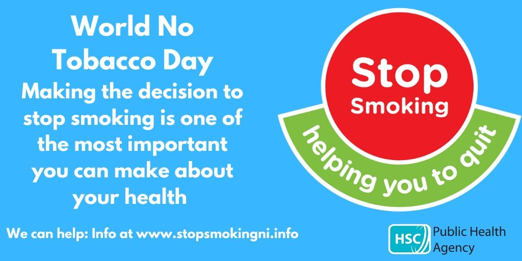 With World No Tobacco Day approaching (31 May) the PHA is encouraging people to consider quitting smoking to improve their health. pha.site/worldnotobacco…