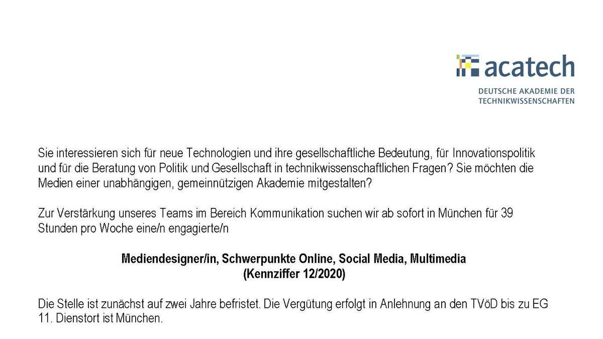 Wir suchen für unser Kommunikationsteam in #Muenchen eine/n Mediendesigner/in (m/w/d) #Online #SocialMedia #Multimedia.   Weitere Infos unter:   #stellenangebote #career #Jobs #Mediendesign #Grafikdesign