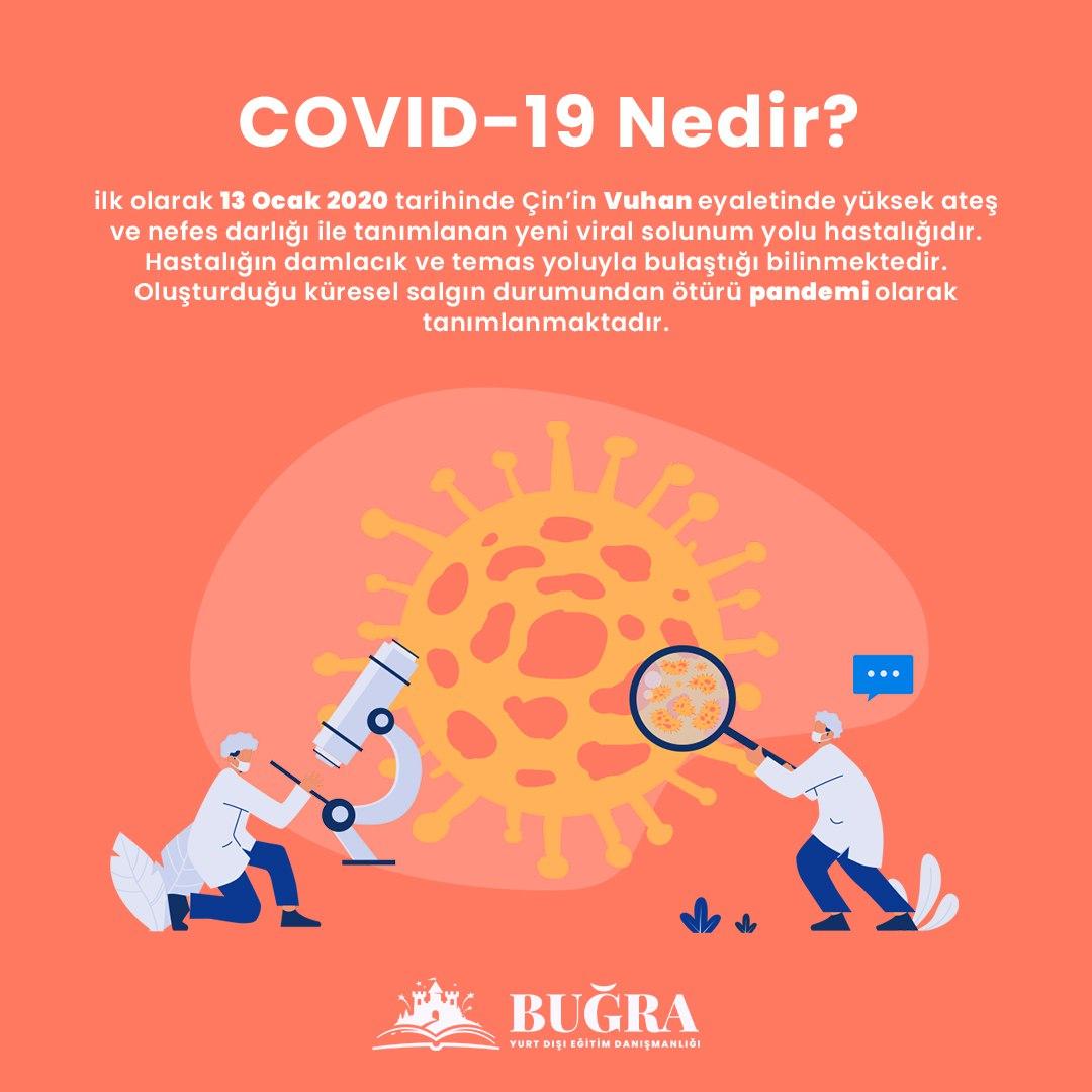 COVID19 Nedir? #corona #covid19 #türkiye #almanya #ingiltere #BugraYurtdisi #eğitimdanışmanlığıpic.twitter.com/1c1fiM3aFO