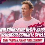 Image for the Tweet beginning: Cheftrainer Julian #Nagelsmann auf der