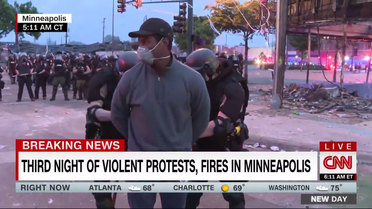 Minnesota police arrest CNN reporter and camera crew as they report from protests in Minneapolis cnn.it/2AlGl9s