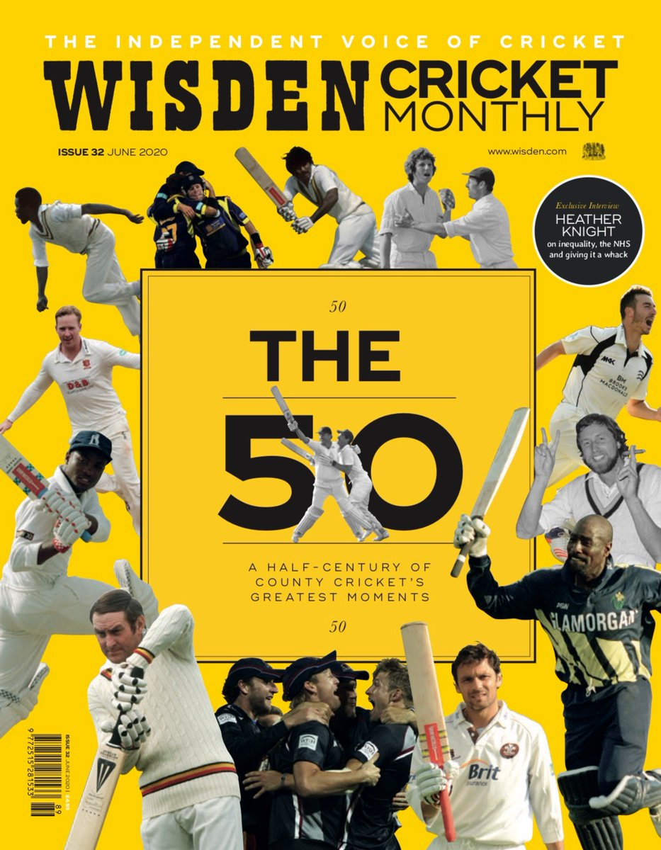 @WisdenCricket issue 32 has landed! @theoldbatsman talks to @vincey14 about his career so far, @AlisonMitchell looks back at her first steps as a broadcaster and we see how @surreycrickets, @AmarSinghVirdi stays prepped for a season that may never happen. wisden.com/shop