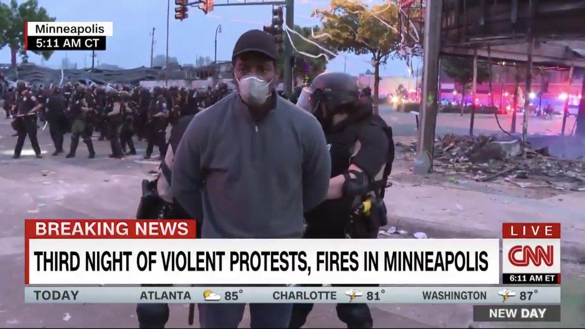 В Миннеаполисе задержали репортера CNN