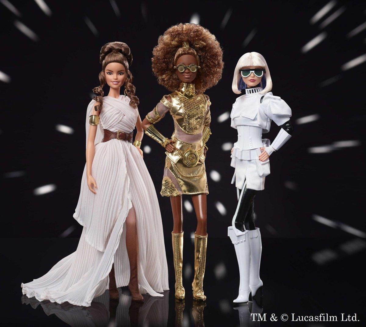 スター・ウォーズ×バービー、C-3POやストームトルーパーを衣装で再現
