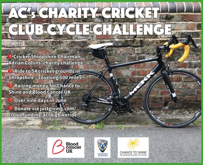 The Cricket Family are pulling #TogetherThroughThisTest and are taking on some cracking challenges early next week!  Adrian from @CricketShrops is taking on a big bike ride🚴♂️ https://t.co/julfYCVIS4  And two @LincsCricket cricketers are running 95 miles😱 https://t.co/63XtY646jS https://t.co/Wdd7oaL1Dq