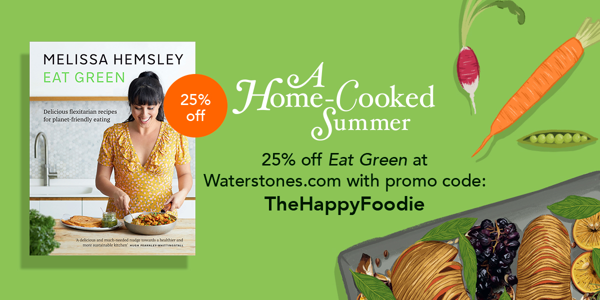 "As part of our A Home-Cooked Summer campaign, we've teamed up with @Waterstones to offer an exclusive 25% discount off @MelissaHemsley's Eat Green. Click here and use the code ""TheHappyFoodie"" at checkout: https://t.co/RaQ8Nfk8Hg https://t.co/VyWm3iZsqn"